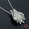 Image of Luminous Bat Pendant Necklace (Genuine 925 Sterling Silver)