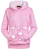 Image of Cute Hoodie With A Cuddle Pouch For Pet Lovers