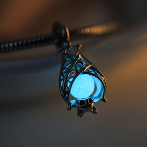 Cute Glowing Bat Charm Bead