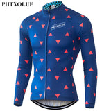 Phtxolue Triangles Long Sleeve Roubaix Jersey (QY056) - Drafters Cycle Store