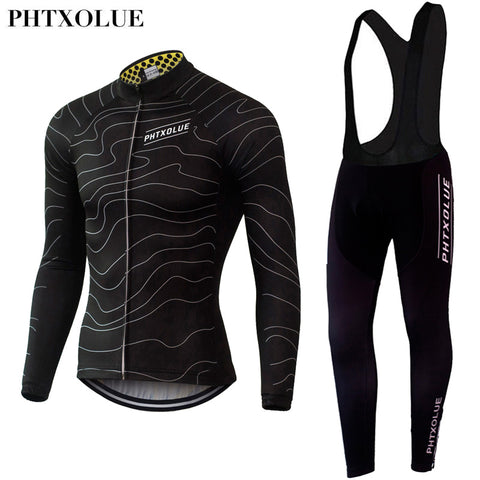 Phtxolue Gradient Lines Jersey & Bib Leggings Set(QY061) - Drafters Cycle Store