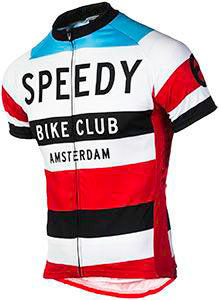Speedy Bike Club Red/White/Blue Retro Classic Style Jersey