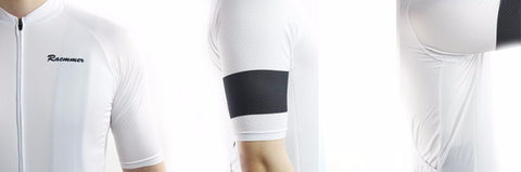 Racmmer White & Black Armband Black Jersey - Drafters Cycle Store