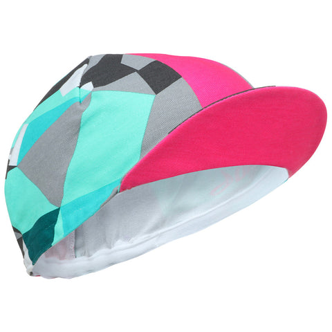 Pink & Turquoise Cycling Cap