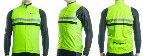 Racmmer Fleuro Striped Windproof Gilet - Drafters Cycle Store