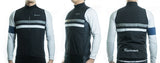Racmmer Black & White Striped Windproof Gilet - Drafters Cycle Store
