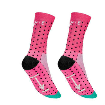 Pink/Black/Turquoise Dotty Breathable Cycling Socks - Drafters Cycle Store