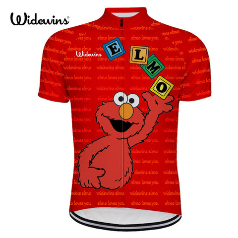 Elmo Blocks Sesame Street Jersey (quirky)