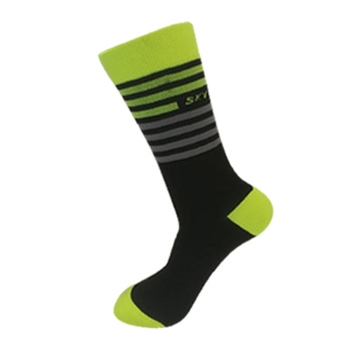 Black & Yellow/Grey Stripes Breathable Sports Socks - Drafters Cycle Store