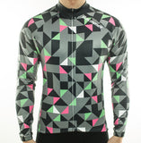 Racmmer Grey Triangles Roubaix Long Sleeve Jersey - Drafters Cycle Store