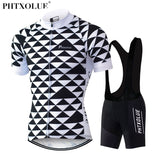 Phtxolue Geometric Triangle & Bib Shorts (QY047) - Drafters Cycle Store