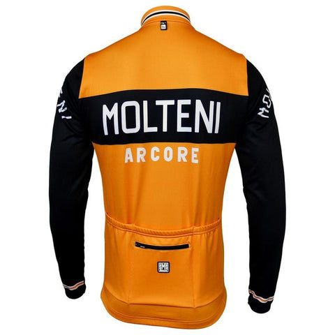 Molteni Arcore Retro Orange Long sleeve Jersey