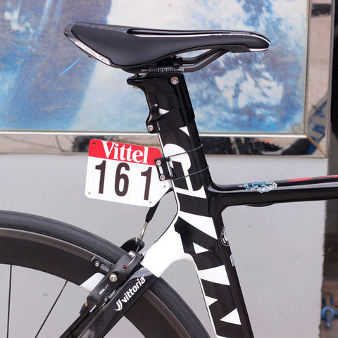 Round or Aero Race Number Mount, or Plate and Decals