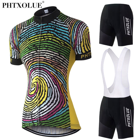 Phtxolue Womens Team Jersey and Bibs/Shorts (QY0329) - Drafters Cycle Store