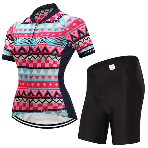Womens Tribal Geometry Jersey and Shorts or Bibs Set