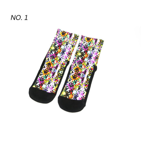 Pixelines Pattern Print Breathable Socks