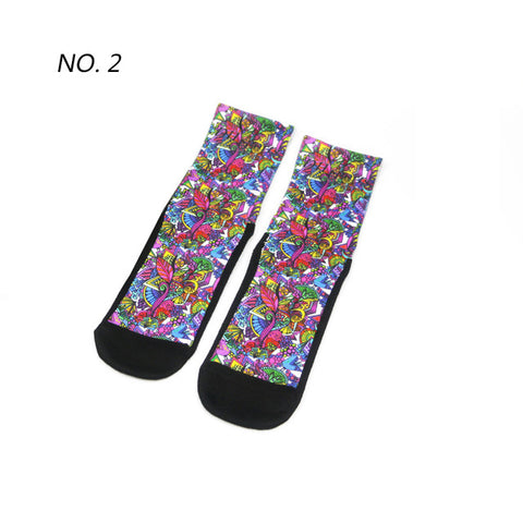 Doodles Pattern Print Breathable Socks