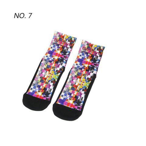 Morph Pixel Pattern Print Breathable Socks