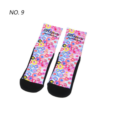 Pink Circle Pattern Print Breathable Socks