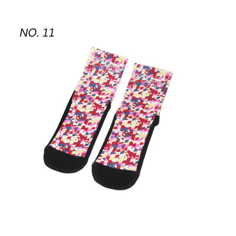 Pixel Rain Pattern Print Breathable Socks