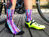Paint Run Pattern Print Breathable Socks