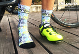 Cogs Pattern Print Breathable Socks
