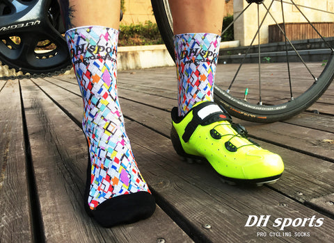 Diamond Rain Pattern Print Breathable Socks