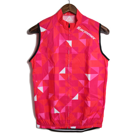 Racmmer Red Triangles Windproof Gilet - Drafters Cycle Store