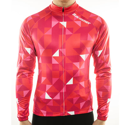 Racmmer Red Triangles Roubaix Long Sleeve Jersey - Drafters Cycle Store