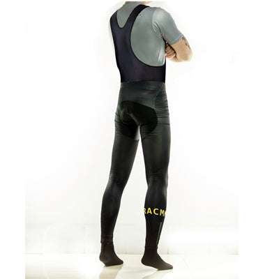 Roubaix Bib tights - Black and Yellow