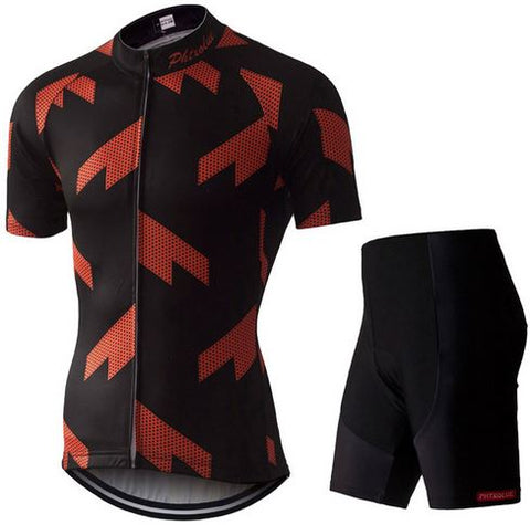 PHTXOLUE Geometric Jersey and Shorts/Bibs Set - Drafters Cycle Store