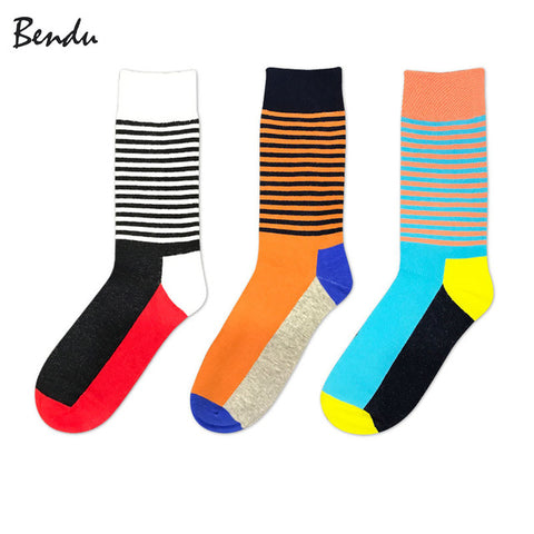 Stripey Breathable Anti-Bacterial Socks (3 Pair Packs)