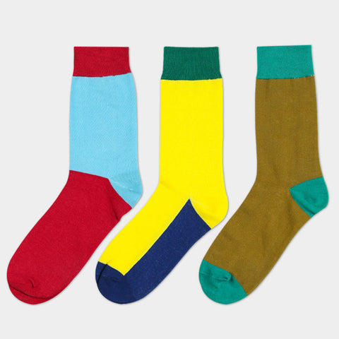 Blocked Breathable Anti-Bacterial Socks (3 Pair Packs)