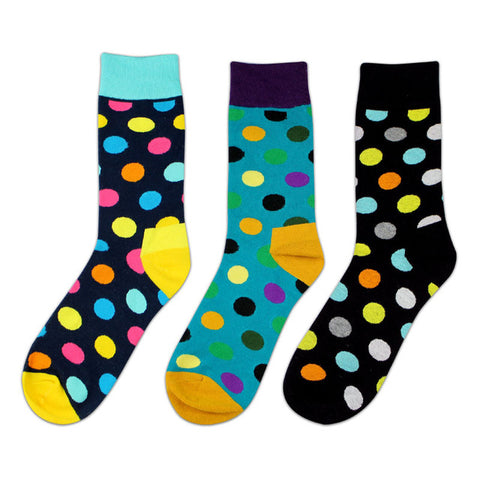 Dotty Breathable Anti-Bacterial Socks (3 Pair Packs)