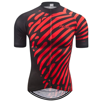 Phtxolue Red Print Jersey - Drafters Cycle Store