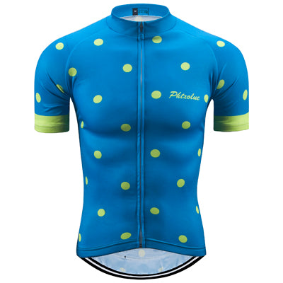 Phtxolue Blue/Lime Polka Dot Jersey - Drafters Cycle Store