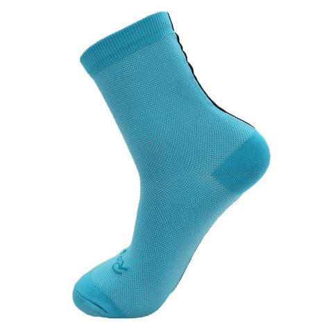 Blue/Black Stripe Breathable Compression Socks - Drafters Cycle Store