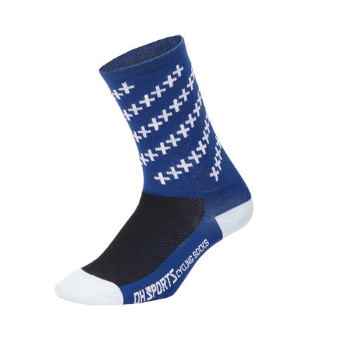 Navy Crosshatched Compression Compression Sport Socks