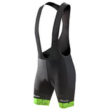 Phtxolue Green Lines Bib Shorts with Gel Pad