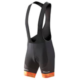 Phtxolue Orange Diamond Bib Shorts with Gel Pad