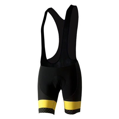 Phtxolue Yellow Band Bib Shorts with Gel Pad