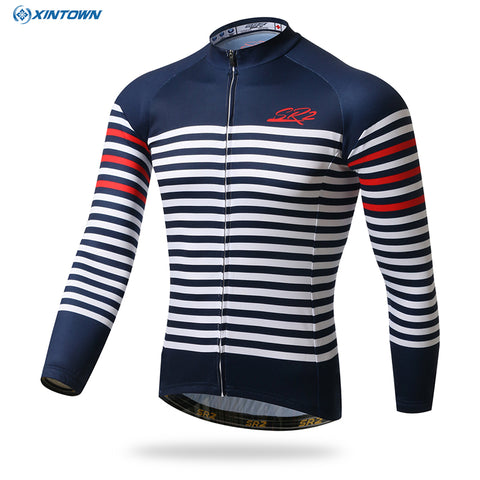 White Stripes Long Sleeve Jersey (LIMITED SIZING)