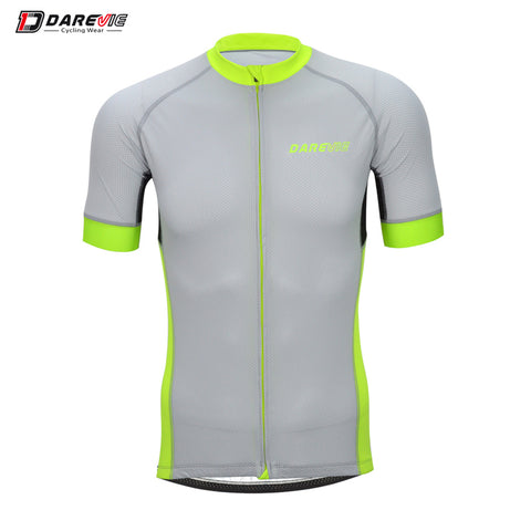 Grey and Yellow Pro Fit Jersey