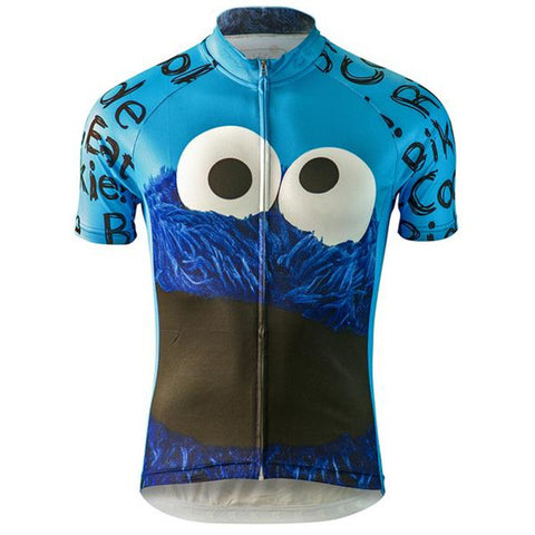 "Cookie Monster - ""Ride Bike, Eat Cookie"" Jersey (quirky)"