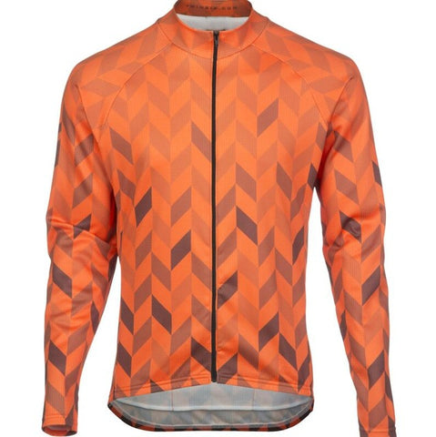 Orange Chevron Long Sleeve Jersey