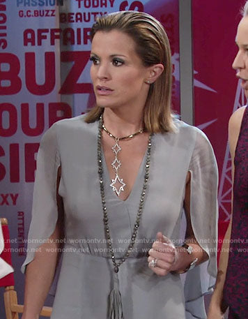 Chelsea Lawson (Melissa Claire Egan) wearing Hipchik Beaded Tassel Necklace on Young & Restless