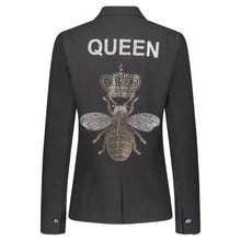 Load image into Gallery viewer, Hipchik Queen Bee Black Blazer - Hipchik