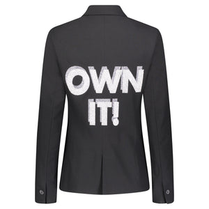 Hipchik Own It Shadow Black Blazer - Hipchik