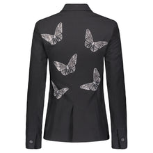 Load image into Gallery viewer, Hipchik Rhinestone Butterflies Black Blazer - Hipchik