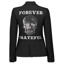 Load image into Gallery viewer, Hipchik Forever Grateful Skull Black Blazer - Hipchik